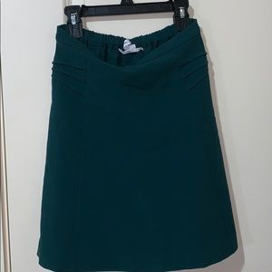 Dark green mid length skirt